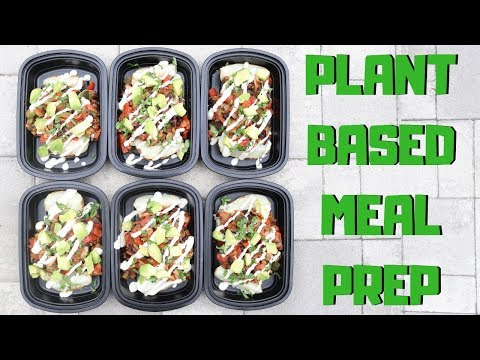 Loaded Baked Potatoes || Plant Based Meal Prep || Steph and Adam