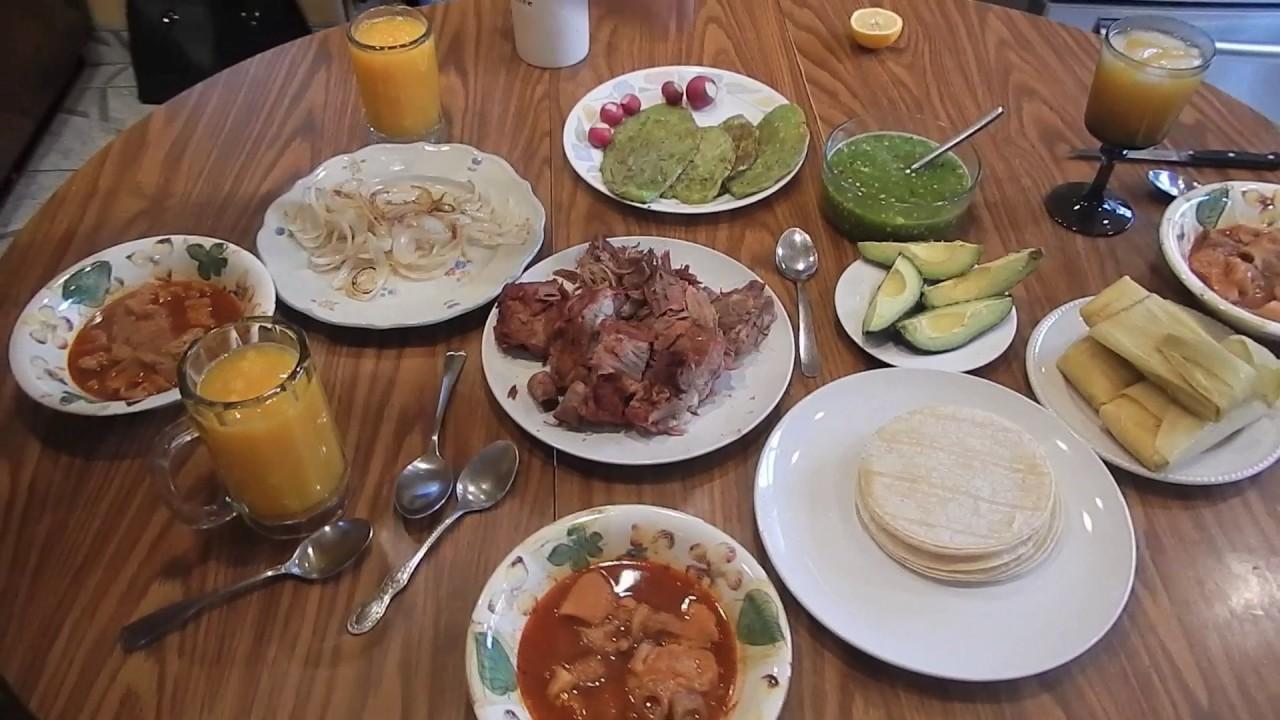 Carnitas estilo Michoacn con Nopalitos  Comida