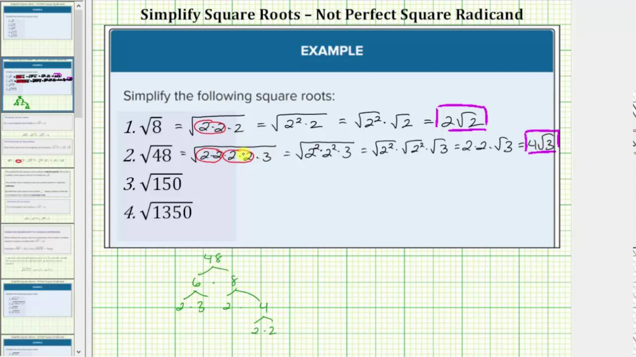 Identify And Simplify Roots Mathematics For The Liberal Arts Corequisite A square root goes the other direction: identify and simplify roots