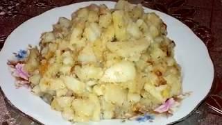 Как пожарить картошку на бабушкиной сковородке