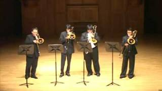 Virtuoso Trombone Ensemble play Toccata & Fugue in D minor