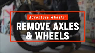 How To Remove Motorcycle Wheels | ADV Bikes