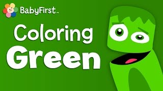 BabyFirstTV: Color Crew - Green | Learn Colors - Color Lesson For Kids