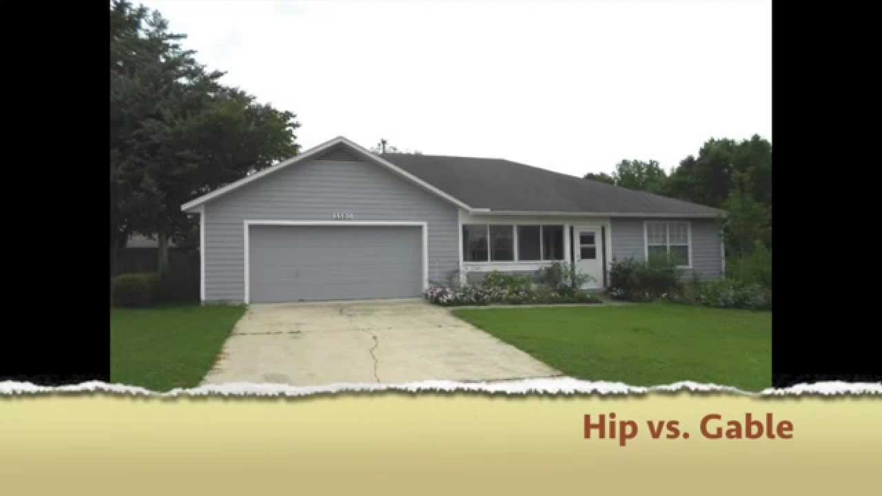 What is the difference between a hip and a gable roof for Able to gable roofing