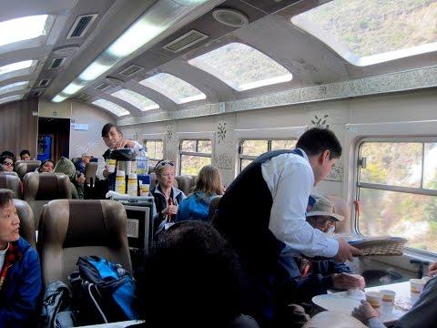 Train ride to Machu Picchu Peru