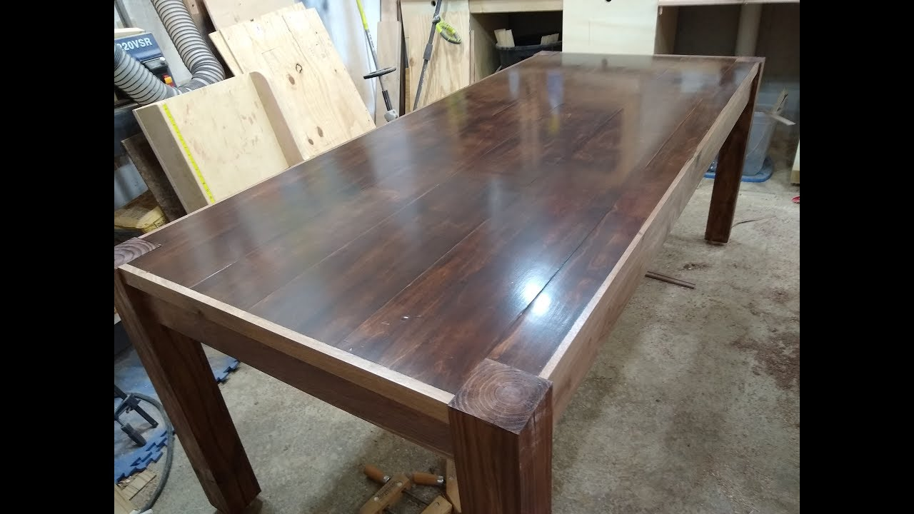 Farmhouse Kitchen Table Out Of Plywood Youtube