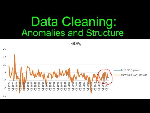 Data Cleaning: Anomalies and Structure