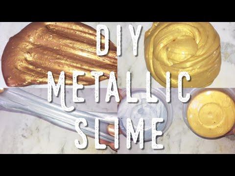 Diy Metallic Slime | Gold, silver, copper slime