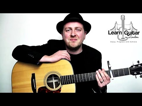 The Only Exception - Guitar Lesson For Beginners - Paramore - Drue James