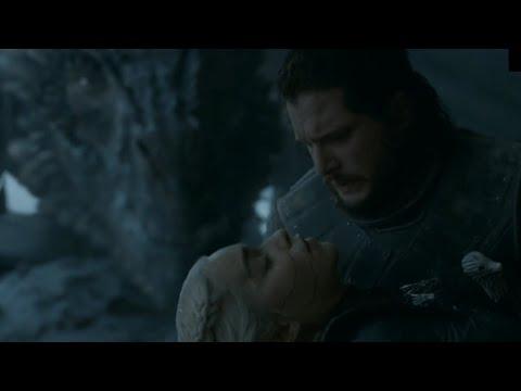 Джон Сноу убивает Дейенерис. Смерть Дейенерис - Игра престолов 8 сезон 6 серия