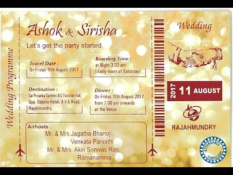 Ashok and Sirisha Wedding