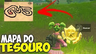 SECRET TREASURE MAP-Follow the map in salty fountains location-Fortnite