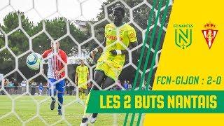 FC Nantes - Sporting Gijon : les 2 buts nantais