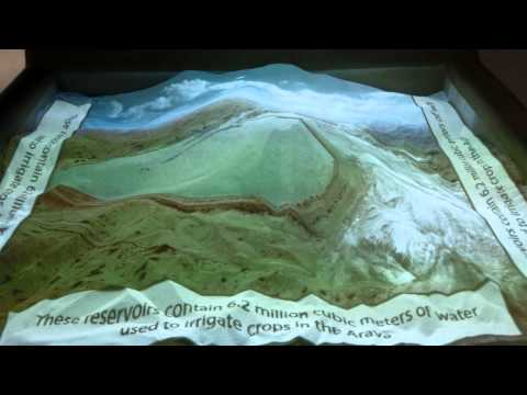 Augmented Reality Sandbox using Kinect 3D camera and a projector