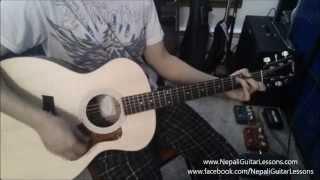 Nepali Guitar Lessons - (Beginner Part 2) Basic Rhythm/Strumming patterns