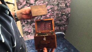 Yew Wood Tea Caddy