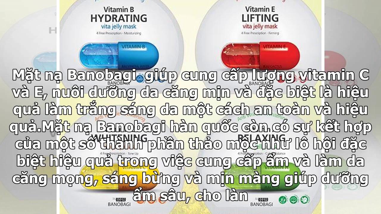 Mặt nạ vitamin Vita Genic Jelly Mask Sheet Banobagi Hàn quốc