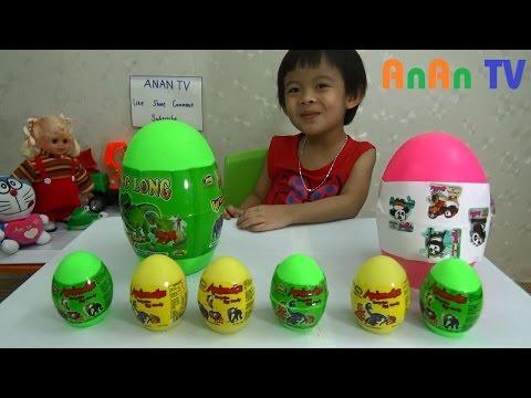 Bóc trứng khủng long đồ chơi - Surprise dinosaur eggs