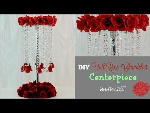diy-tall-rose-chandelier-wedding-centerpiece- -diy-on-a-budget- -diy-tutorial