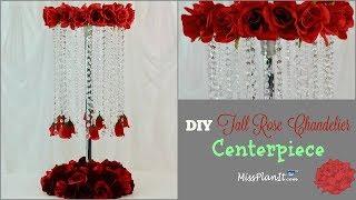 DIY Tall Rose Chandelier Wedding Centerpiece | DIY on a Budget | DIY Tutorial