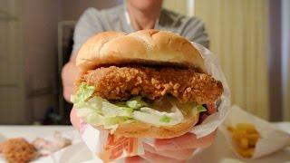 [ASMR] KFC   Zinger Box Meal   Eating Sounds