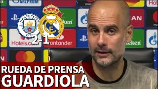 Manchester City 2 - Real Madrid 1 | Rueda de prensa de Guardiola | Diario AS