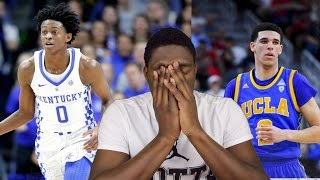 DE'AARON FOX VS  LONZO BALL!!! (REACTION) KENTUCKY VS UCLA HIGHLIGHTS!!!