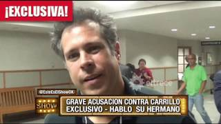 El hermano de Fernando Carrillo se sumó al escándalo por acoso