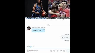 TERRENCE ROMEO CHATTING WITH SCOTTIE THOMPSON parody (about Gilas line-up)