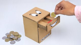 How To Make C๐in Bank Box From Cardboard