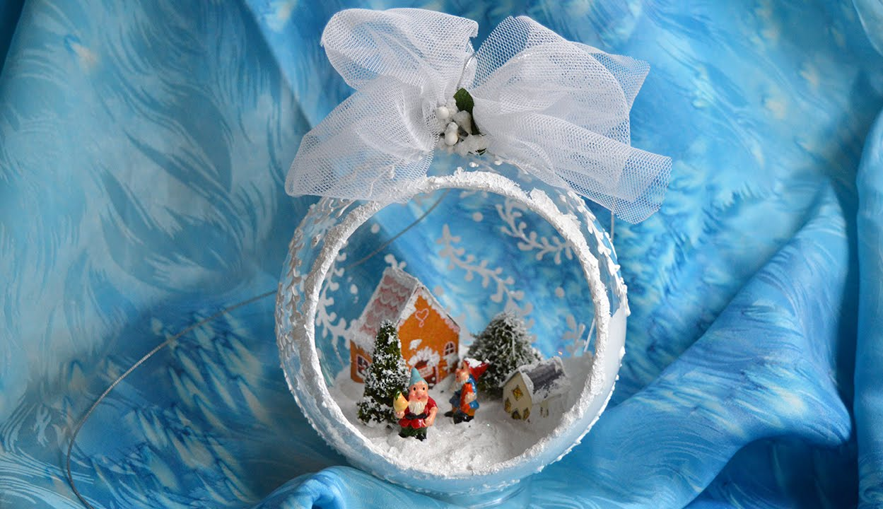 Как сделать новогодний шар с фотографией внутри фото 794