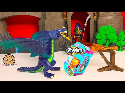 Playmobil Shield Dragon Playset + Shopkins Season 3 Blind Bag Unboxing Toy Video Cookieswirlc