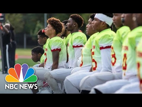 Why One All-Black High School Football Team Is Taking The Knee During The National Anthem | NBC News