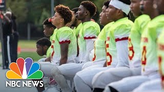 Why One All-Black High School Football Team Is Taking The Knee During The National Anthem   NBC News