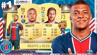 FIFA 21 Mbappe To Glory! | #1 A New Beginning! MESSI in a Reward Pack!