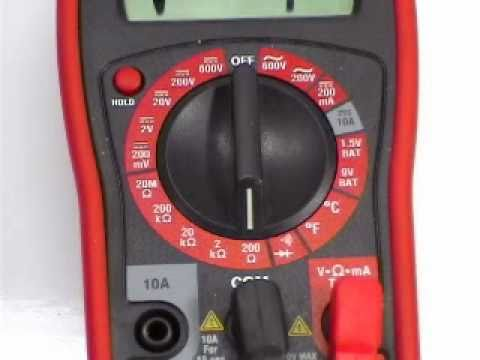 How To Use A Multimeter To Check For Continuity Youtube