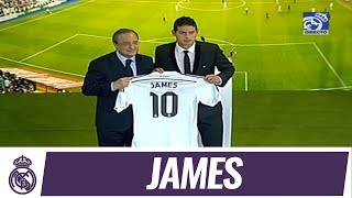 James' presentation as a Real Madrid player