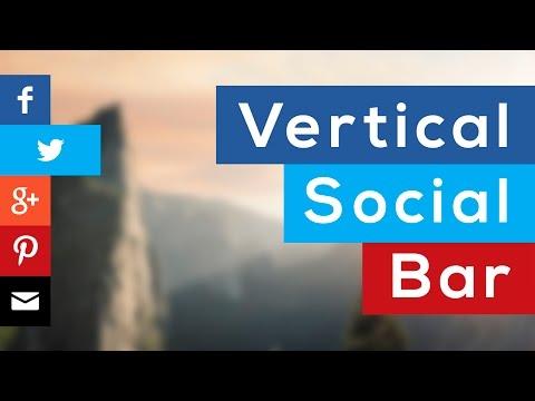 Como hacer una Barra Social (vertical y fija a pantalla) con HTML y CSS3 thumbnail