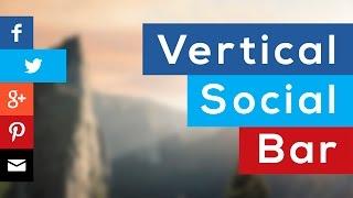 Como hacer una Barra Social (vertical y fija a pantalla) con HTML y CSS3