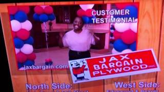 Funny local commercial for Jax Bargain Plywood