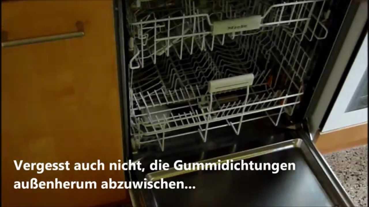 Geschirr nicht sauber? Sieb/Filter reinigen (Miele G 5400 Sci) - YouTube