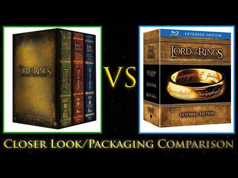 LOTR Extended Trilogy DVD vs Blu ray Closer Look/Packaging Comparison