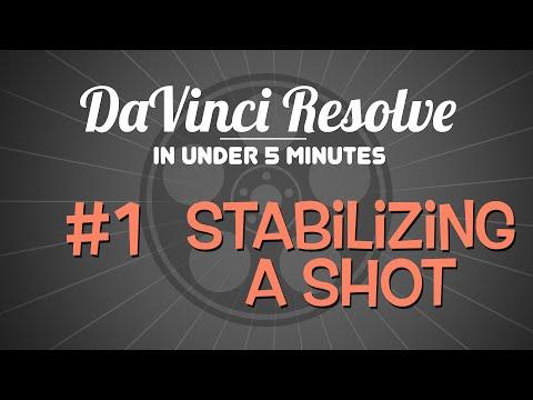 DaVinci Resolve in Under 5 Minutes: Stabilizing a Shot