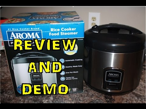 Aroma Profesional Rice Cooker Demo and Review