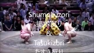 SUMO 相撲 kimarite 決まり手 Shumokuzori 撞木反り & Tasukizori たす...