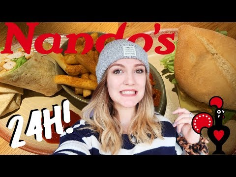 I ONLY ATE IN NANDOS FOR 24H - This WAS NOT Fun!! 😱😵