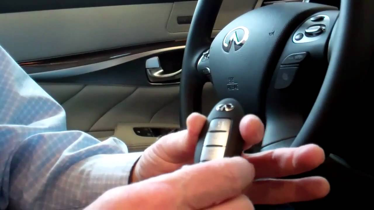 Using Yours Infinitis Intelligent Key Part 1 Youtube Infiniti Fob Remote Start