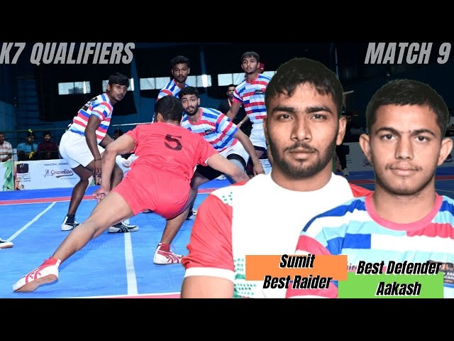 Sumit - Scored 15 raid points | Aakash - Scored 3 tackle points in an thrilling encounter
