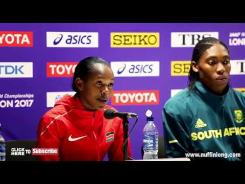 CASTER SEMENYA ADDRESS DNA/GENDER ISSUES ANGRILY IN PRESS CONFERENCE