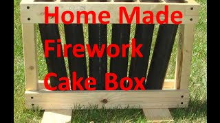 Homemade Fireworks Show - P2 - Make Fireworks Cakebox - dIY mortar launcher